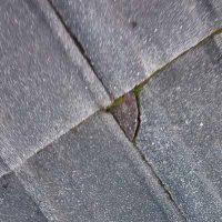 Broken roof Tiles